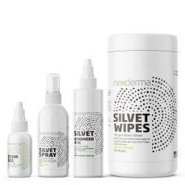 Nexderma® Bundle - 100mL Silvet Spray, Stem Gel, Otic, Silvet Wipes
